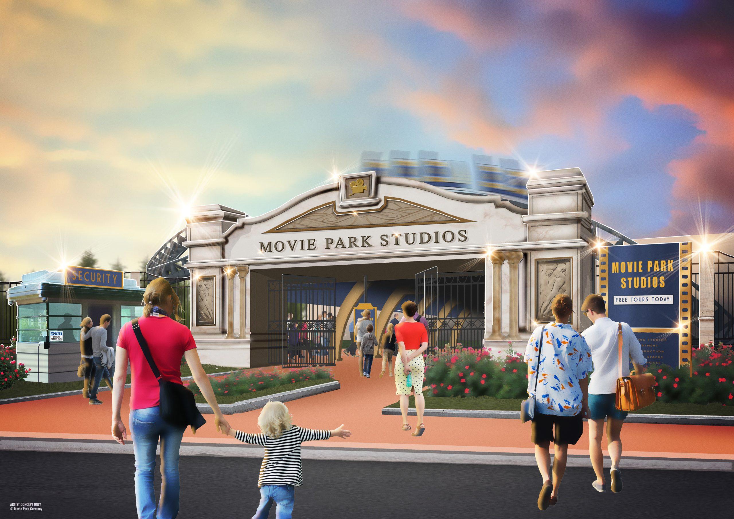 """""""Willkommen in den Movie Park Studios!"""" Storyline und Thematik des neuen Achterbahn-Blockbusters sorgen in 2021 für noch mehr Hollywood in Germany"""